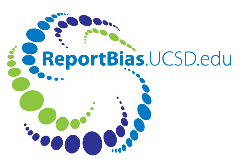 UC San Diego Report bias green and blue logo graphic